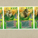 ASIAN WILDLIFE UKRAINIAN LANGUAGE SRATCH LOTTERY CARDS SET OF FOUR