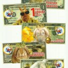 SET OF FIVE RUSSIAN LANGUAGE RABBIT DOLLAR CALENDAR CARDS 2011