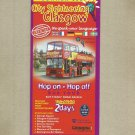 GLASGOW CITY SIGHTSEEING DOUBLE DECKER SCOTLAND BUS TIMETABLE SUMMER 2009
