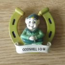 GODSHILL ISLE OF WIGHT ENGLAND PIXIE IN HORSESHOE FRIDGE MAGNET
