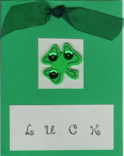 Shamrock Luck Card