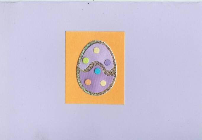 Easter Egg on Lavender Card