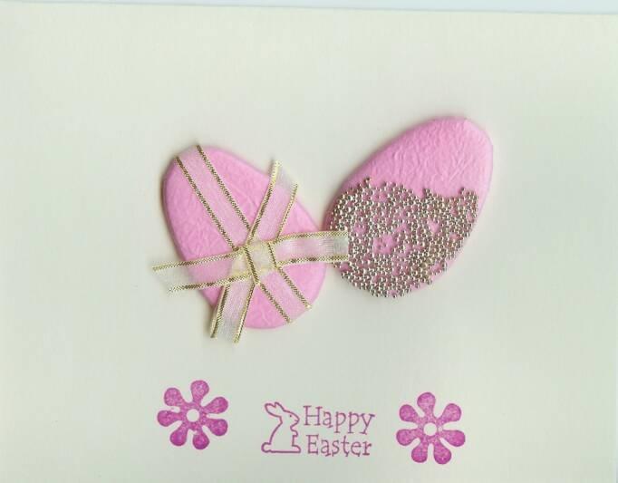 Easter Eggs & Flowers Card
