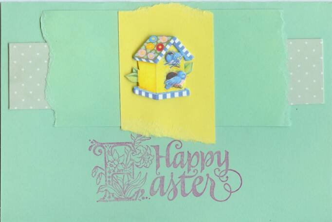 Happy Easter Birdhouse Card
