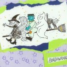 Neon Halloween Gang Card