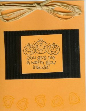 Pumpkins & Candy Corns Halloween Card