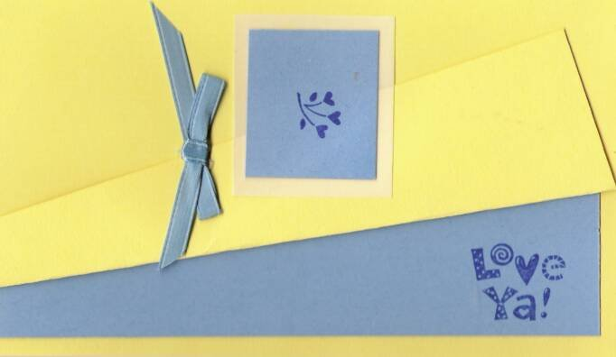 Love Ya in Blue & Yellow Card