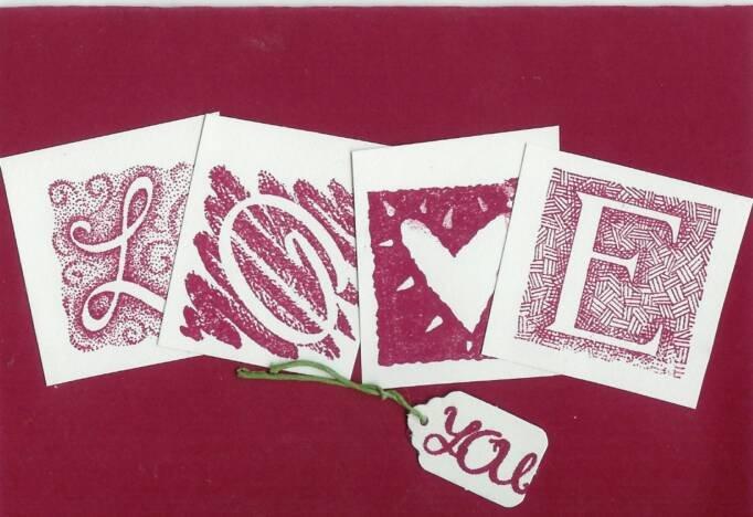 Love You in Burgundy Card