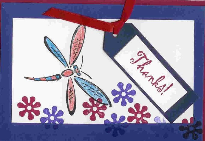 Dragonfly Thanks Card