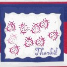 Patriotic Ladybugs Thank You Card