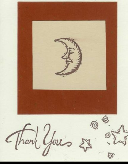 Moon & Stars Thank You Card