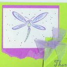 Neon Dragonfly Thank You Card
