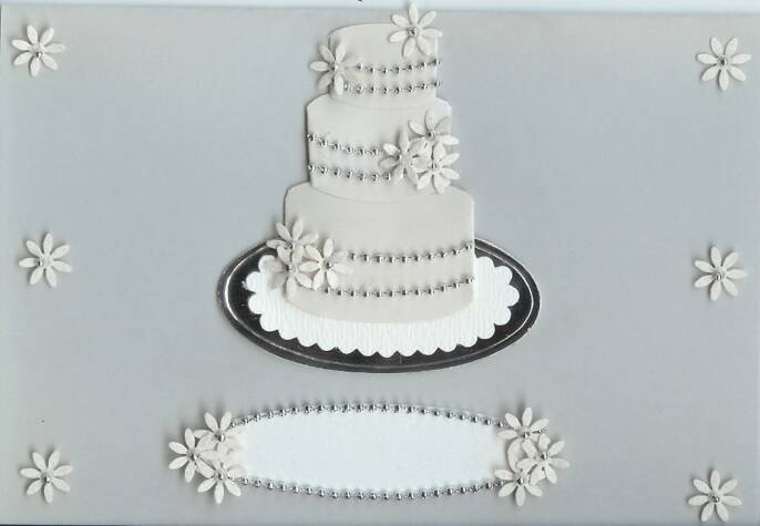 Silver Wedding Cake Card