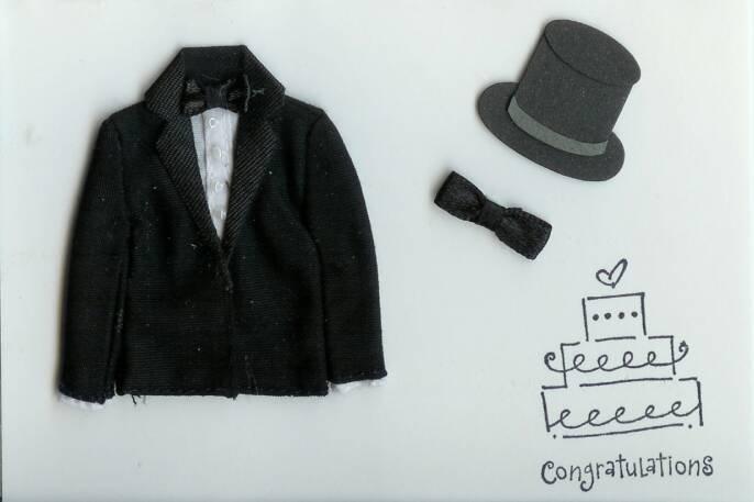 Tuxedo Wedding Congratulations Card