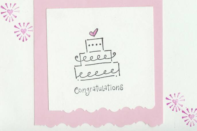 Wedding Cake Congratulations Card