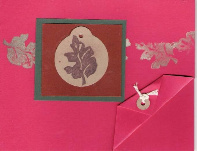 Leaves Print Card