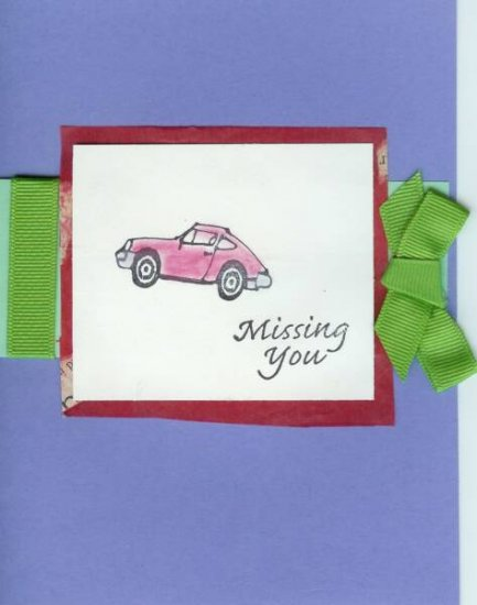 Missing You Card Card