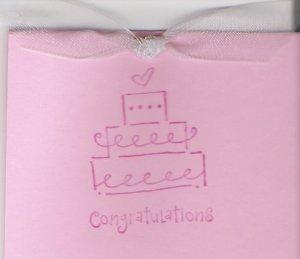 Wedding Cake Congratulations Card