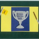 World&#39;s Greatest Dad Card-Green