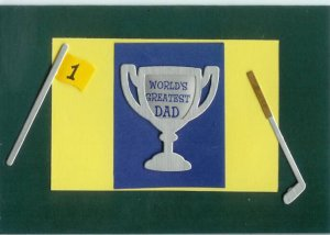World's Greatest Dad Card-Green