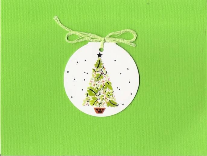 Christmas Tree Gift Tag Card