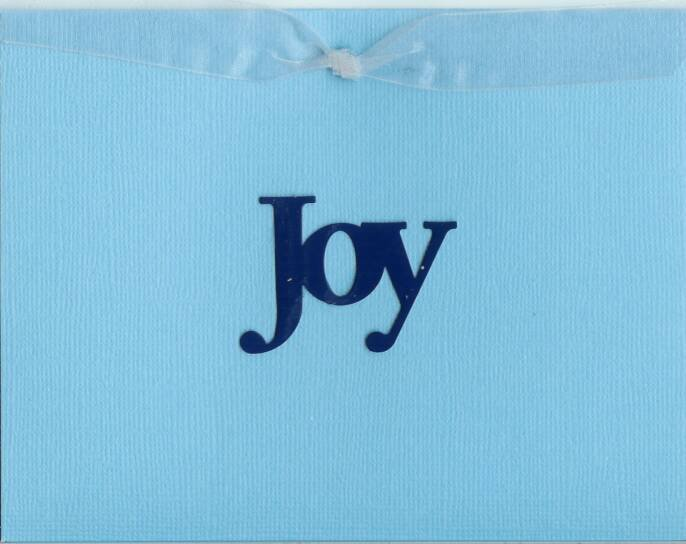 Blue & Silver Joy Card