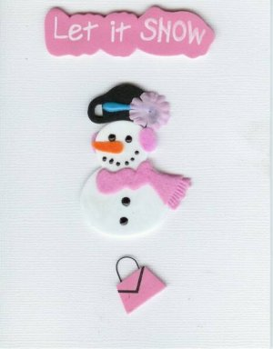 Let it Snow Card-White