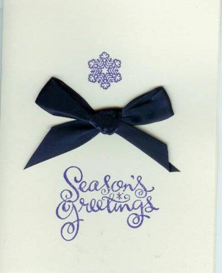 Snowflake & Ribbon Season's Greetings Card