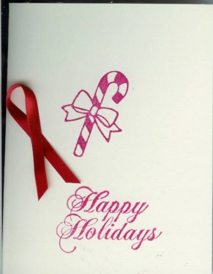 Candy Cane Happy Holidays Card