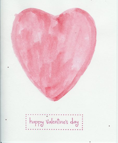 Watercolor Heart Valentine's Day Card