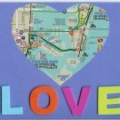 Map Heart Love Card