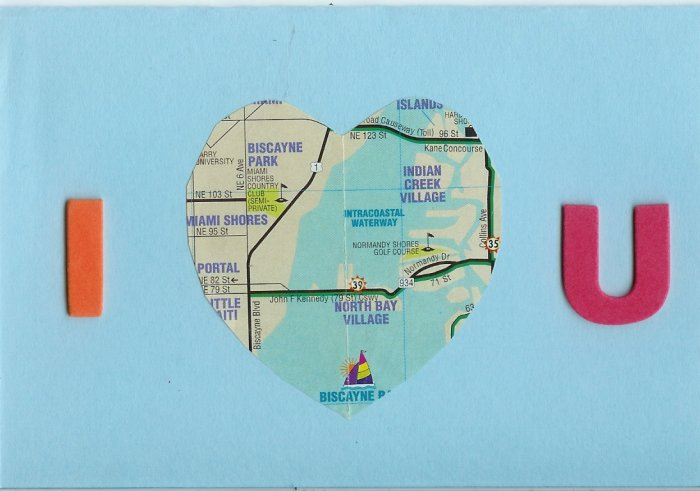 I Map Heart U Card