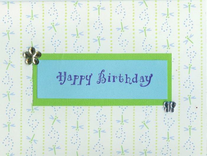 Dragonfly Happy Birthday Card
