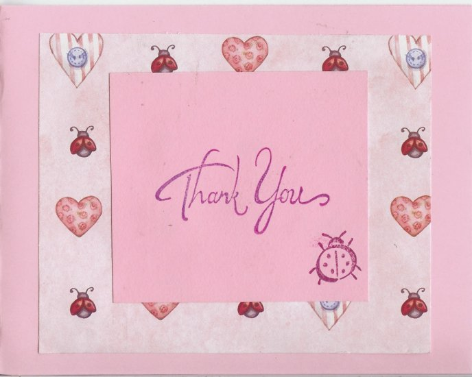 Ladybugs & Hearts Thank You Card