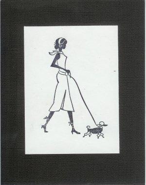A Girl & Her Dog Card