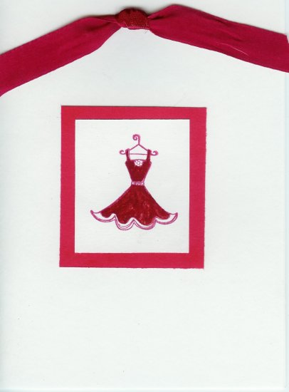 Red Dress Card