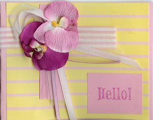 Orchids Hello Card
