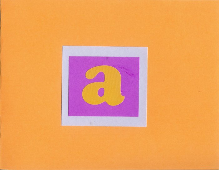 "Custom Initial ""A"" Card-Orange"