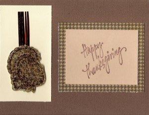Turkey Happy Thanksgiving Card