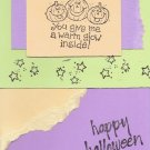 Neon Pumpkins Halloween Card