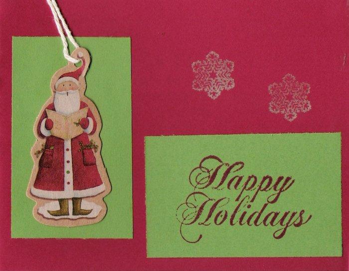 Santa Happy Holidays Card