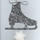 Ice Skate & Snowflake Card
