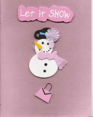 Let it Snow Card-Pink
