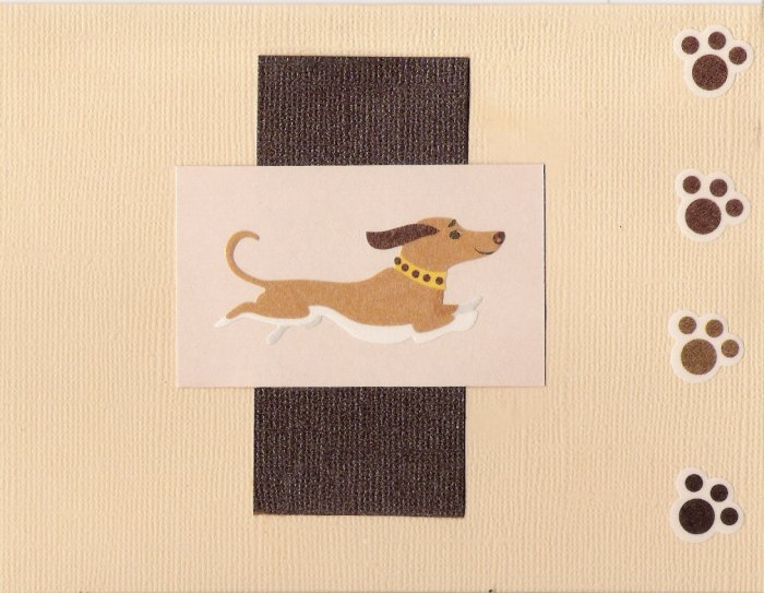 Dachsund Mania Card-Tan