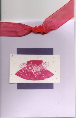 Purple Red Hat Society Card
