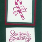 12 Candy Cane Season's Greetings Cards