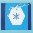 6 Glittery Snowflake Gift Tag Cards
