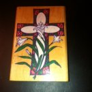 Easter Cross Rubber Stamp