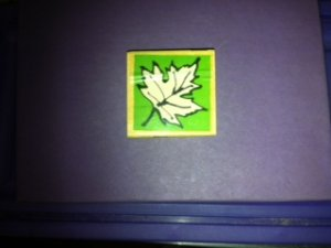 Fall Leaf Rubber Stamp