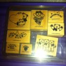 Stampin Up Bear Hugs Rubber Stamp Set--8 Pieces